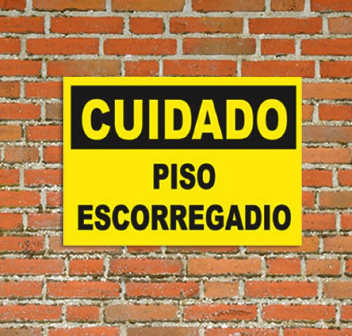 Placas Piso Escorregadio